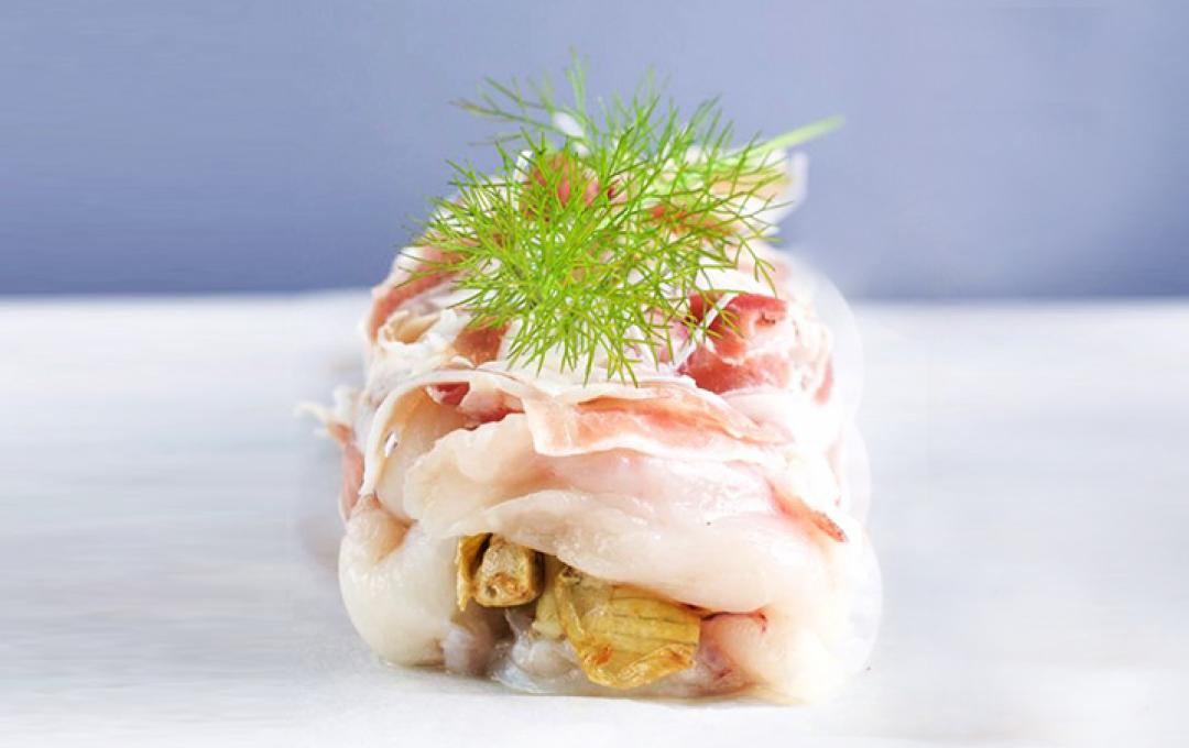 "Monkfish in ""porchetta"" with organic artichokes - ilFiordiCappero"