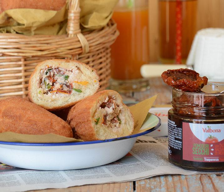Valbona-Panzerotti with Ricotta Cheese and Sundried Tomatoes in Balsamic Vinegar